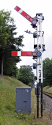 Refurbished Kingcsote Up Home signal - Derek Hayward - 31 July 2013