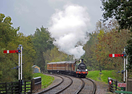 H-class with Victorian carriages at Kingscote - Derek Hayward - 2 November 2013