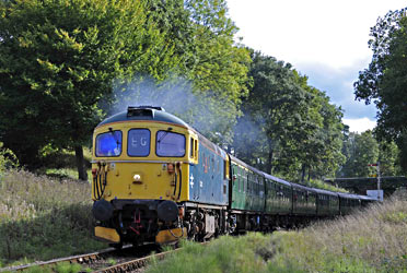 33103 with train at Vaux End - Derek Hayward - 6 Oct 2013