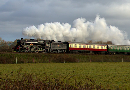 Sherwood Forester on Santa Special train - Paul Furlong - 14 December 2013