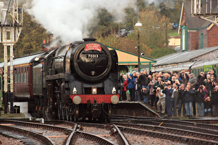 H-class with Victorian carriages at Sheffield Park - John Sandys - 31 October 2013
