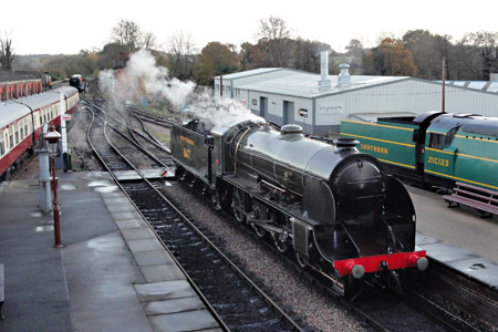 S15 steams at Sheffield Park - Robin Johnston - 20 November 2013