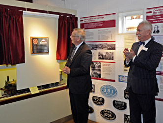 The Duke unveils the commemorative plaque - Derek Hayward - 10 October 2013