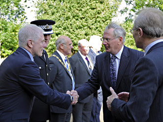 Roy Watts introduced to HRH The Duke of Gloucester - Derek Hayward - 10 October 2013