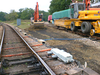 Site preparations for work on No.23 points at Horsted Keynes - Alan Dengate - 1 Oct 2013