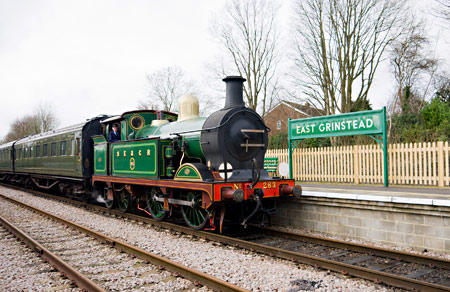 H-class arrives at East Grinstead - John Sandys - 17 February 2014
