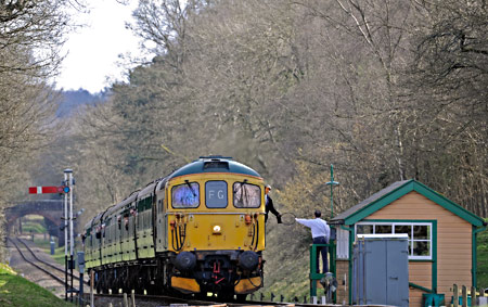 33103 exchanges token at Kingscote - Derek Hayward - 21 March 2014