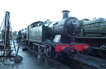 5643 on shed at Sheffield Park - Nathan Gibson - 8 February 2014