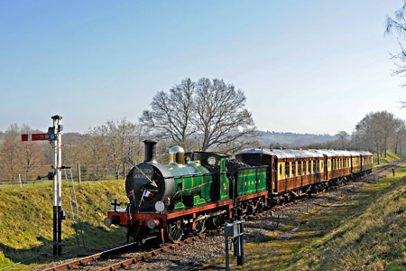 C-class with the Pullmans at Kingscote Down Advance Starter - Derek Hayward - 9 March 2014