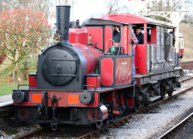 Baxter giving brake van ride - Brian Lacey - 22 March 2014