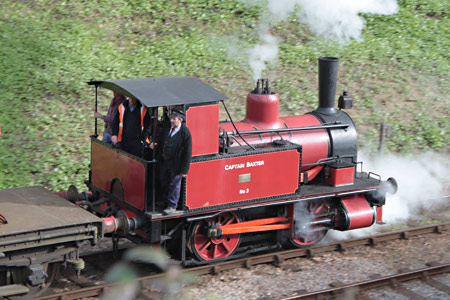 Baxter on brake van rides - Sam Brown - 22 March 2014