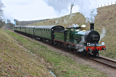 C-class heading service train with P 178 on rear - Steve Lee - 2 March 2014