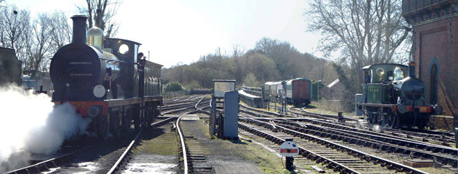 592 comes off shed whilst 178 awaits its next task - Paul Booth - 16 March 2014