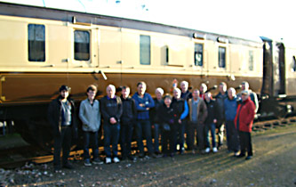 FOMD participants with Dave Clarke at  the C&W - 2 Feb 2014