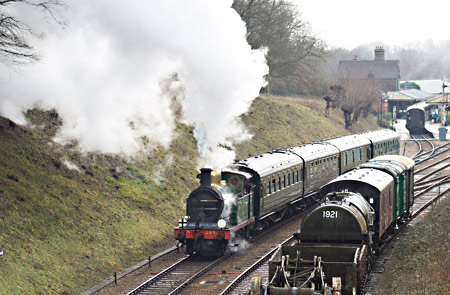 H-class departing from Horsted Keynes - John Sandys - 20 February 2014