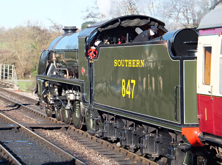 847 at Sheffield Park on Boxing Day - John Sandys - 26 December 2013