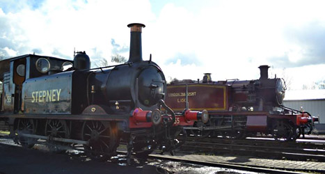 Stepney and L.150 in yard at Sheffield Park - Owen Hayward - 23 March 2014