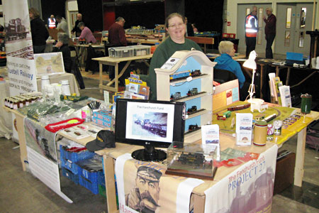 Claire Emsley with the Project 27 stand at Stoneleigh Park - Clive Emsley - 9 March 2014