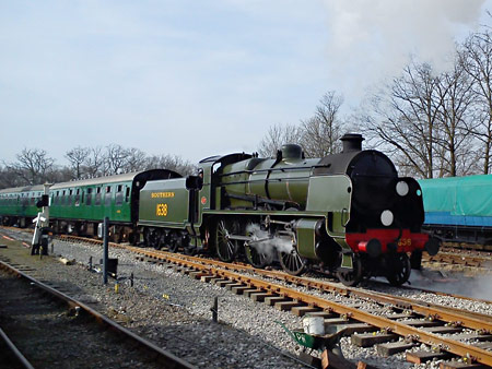 U-class with the first service over the new No.23B points at Horsted Keynes - Richard Salmon - 8 March 2014