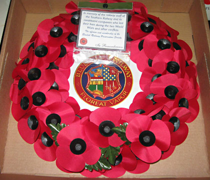 The wreath laid at Ypres, 15 March 2014