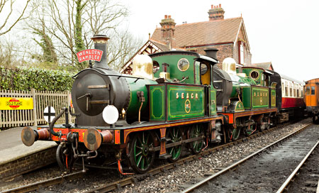 178 and 263 ready to leave Sheffield Park with the Sunday afternoon tea train - Stephen Garratt - 30 March 2014