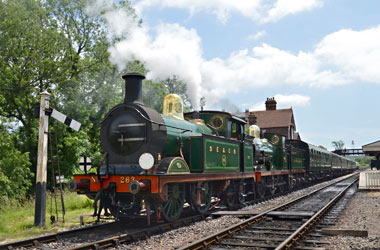 H-class and C-class ready to leave Sheffield Park - John Goss - 11 June 2014