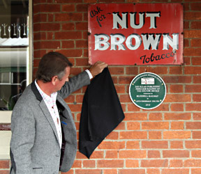 David Allan unveils the Railway of the Decade plaque - Jon Bowers - 1 June 2014
