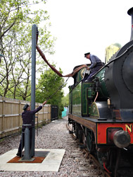 H-class takes water at East Grinstead - Mike Hopps - 14 May 2014