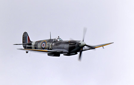 Spitfire flypast at Horsted Keynes - Derek Hayward - 10 May 2014