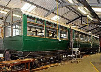 LNWR 1503 in carriage works - Derek Hayward - 23 August 2014