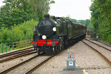 1638 leads SR coaches into East Grinstead - Brian Lacey - 27 August 2014