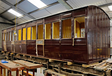 SECR 3188 in carriage works - Derek Hayward - 23 August 2014