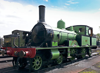 Adams Radial Tank in the loco yard - Martin Lawrence - 30 August 2014