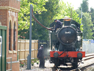 5643 taking water at East Grinstead - Paul Marlton - 1 August 2014