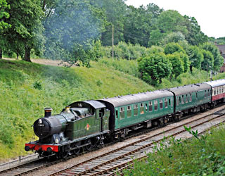 GWR 5643 leaving Horsted Keynes - Derek Hayward - 6 July 2014