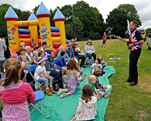 Marco the Magician at the Food Festival - Derek Hayward - 5 July 2014