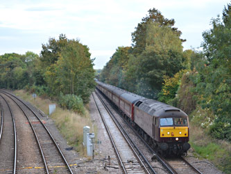 47237 passing Hurst Green Junction - Andrew Crampton - 2 Oct 2014