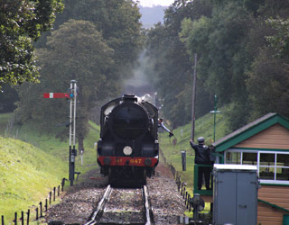 847 with ECS appraching Kingscote - Tony Sullivan - 9 Oct 2014