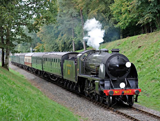 S15 with special train at Mill Place Cutting - Derek Hayward - 2 Oct 2014