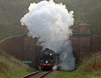 847 bursts out of the tunnel - Brian Lacey - 30 Oct 2014