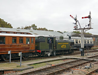 B473 and GN Saloon at Horsted - Brian Lacey - 18 Oct 2014