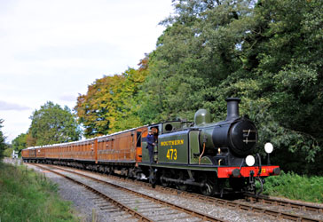 E4 with Victorian caoches at Leamland - Derek Hayward - 5 Oct 2014