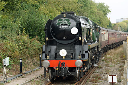 Braunton arrives at East Grinstead - Brian Lacey - 2 October 2014