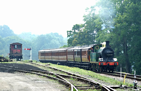 H-class approaches Horsted Keynes with the Victorian train - Richard Salmon - 6 September 2014