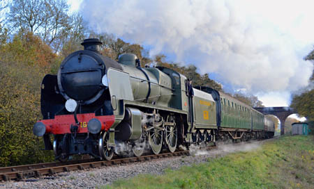 1638 at Three Arch Bridge - Steve Lee - 15 November 2014