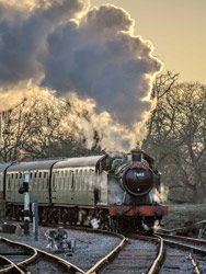 5643 approaches Horsted Keynes with Santa Special - Nick Burgess - 13 December 2014