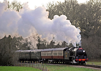 847 approaches Horsted Keynes - Derek Hayward - 20 December 2014
