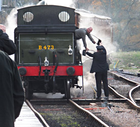 Token exchange at Horsted Keynes - Robin Wilson - 15 November 2014