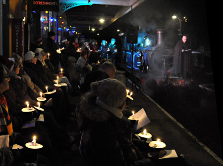 Bluebell and carolers with Fr Clive - David Chapman - 6 December 2014