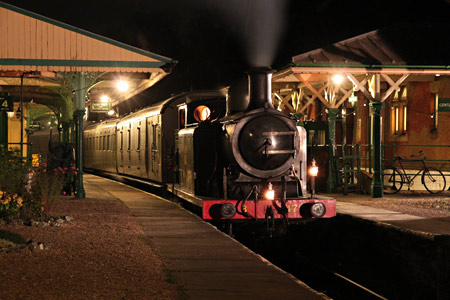Evening shot of B473 on photo charter at Horsted Keynes - Andrew Strongitharm - 6 November 2014